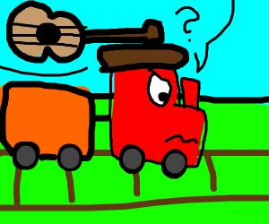 """train """"choo choo. what is an ukulele""""?"""