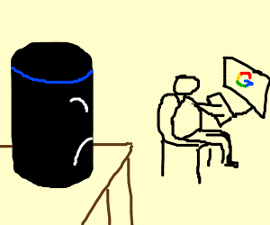Alexa jealous of man using google