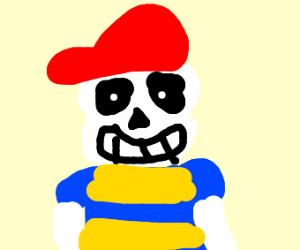Sans dressed as Ness