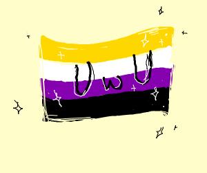 non-binary pride UwU