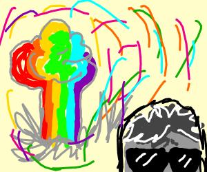 Shady Guy caused Rainbow Explosion