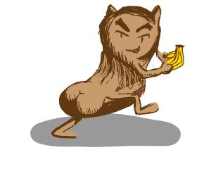 bread demon steals bananas