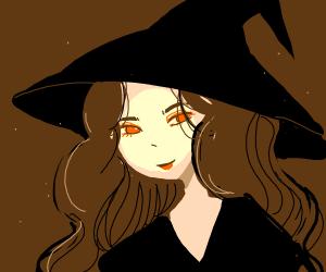 Manga style witch