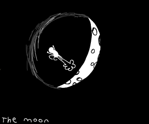 Rippin' one on the moon