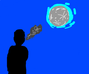 smoking under the moonlihght