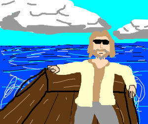 dude in a boat