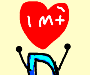 1 million hearts on a drawception game