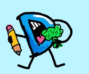 Drawception eats broccoli