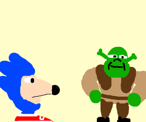 Sanic and Shrek