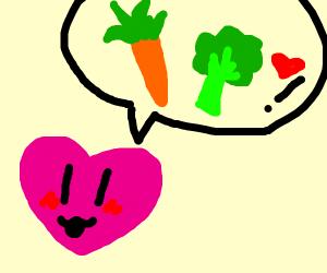 heart loves vegetables
