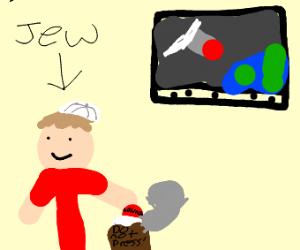 Jew firing a missle