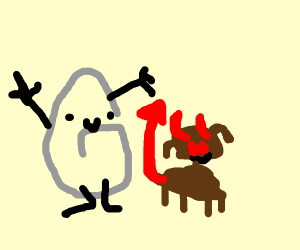Clippy and his pet hellhound - Drawception