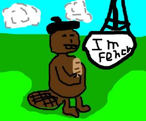 Beaver speaking french