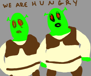 2 ogres are hungry