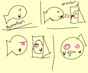 Hypnofish hypnotises self