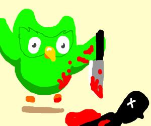 duoligo owl is actually a murder