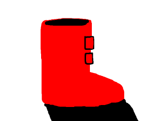 a red boot