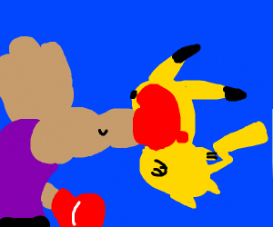 Pikachu is attacked