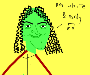 weird al but his body is green