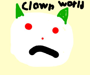 angry clown face