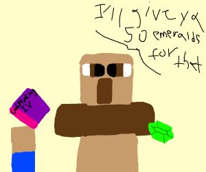 Minecraft villager making a fair trade