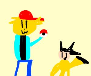Ash and Pikachu swap roles
