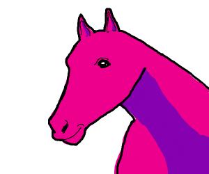 A pink horse
