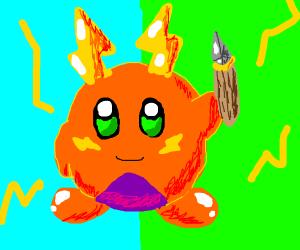 Kirby and Raichu fuse