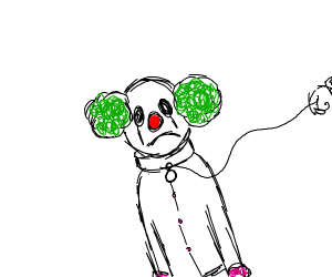 Clown wearing a Collar