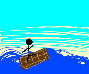 Surfing on a chocolate bar