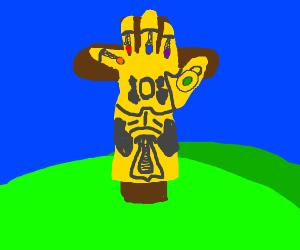 Infinity glove on cross (jesus)