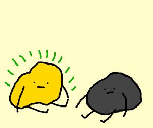 Happy Uranium rock, hangin' with other rocks