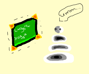 white blob does math