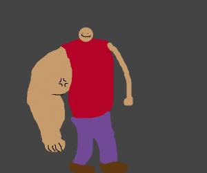 Huge arm punchy man.