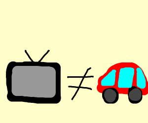 Tv is not car