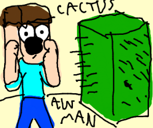 Minecraft cactus finally gets revenge