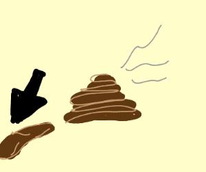 A piece of poop