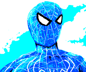 Spider-Man with blue mask