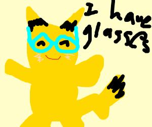 Pikachu in glasses