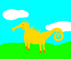 sea horse but it's actually a horse