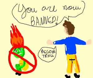 Troll got banned