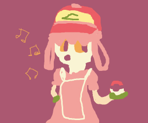 Ash Ketchum disguised as a girl