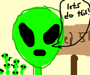 Alien getting ready for Area 51