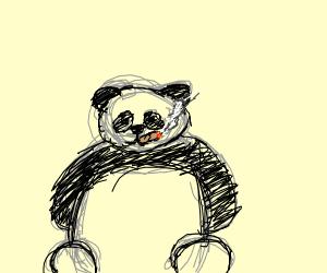 panda smoking a cigar