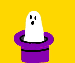 Ghost in a wizard hat