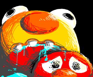 Yellmo eats Elmo