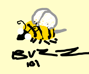 a really good drawing of a bee