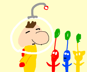 Olimar & 3 Pikmin lol