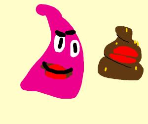 Patrick Star kissed Poo