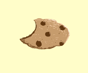 partly eaten cookie